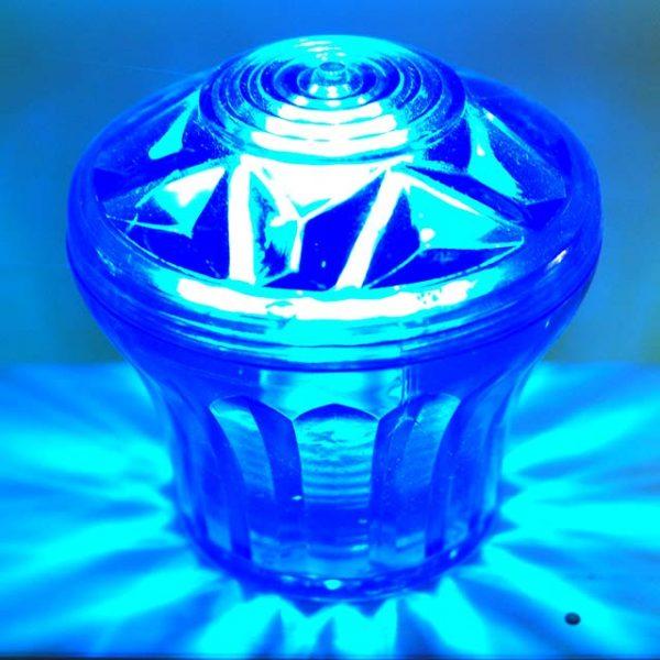 Blue Cabochon E14 Fairground Light Top