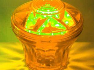 Orange (S4) Cabochon E14 Light Base