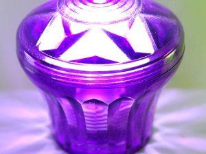 Purple (S13) Cabochon E14 Light Base