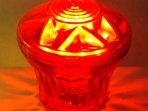 Red (S8) Cabochon E14 Light Base