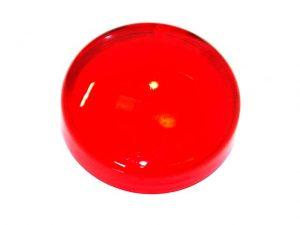 Red Translucent Flat Light Cap