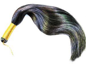Grey Carousel Horse Tail