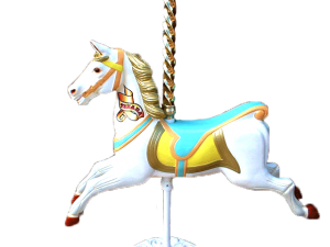 Junior Carousel Horse with Pole & Stand Hire