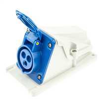 16A 2P+E 230V 90° Angled Socket Outlet IP44
