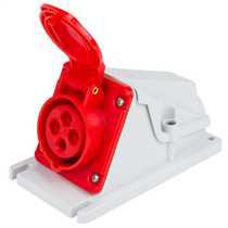 16A 3P+E 415V 90° Angled Socket Outlet IP44