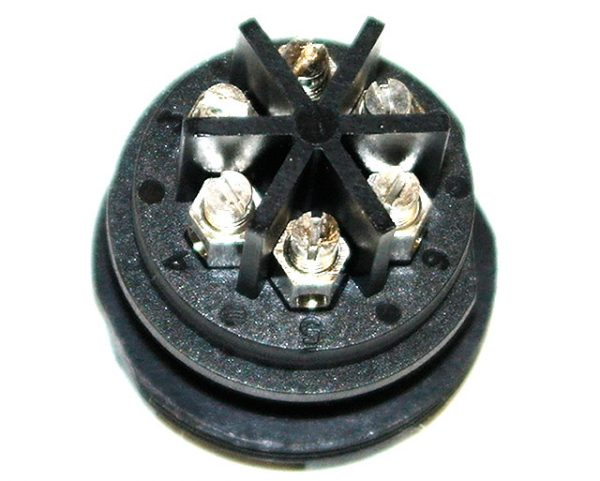 6 Pole Cable Mount Connector Socket