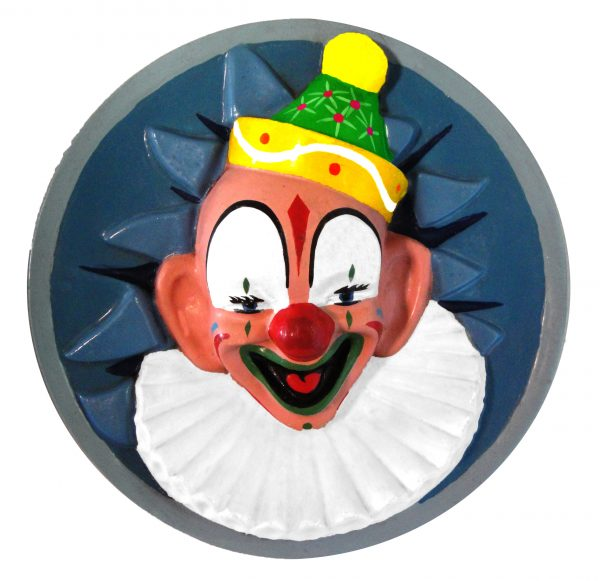 Round Clown Face display mould fully painted and laquered