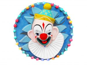 Round Clown Face with Cabochon lights