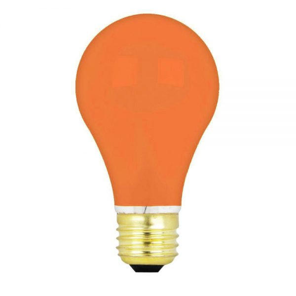 15w 240v E27 GLS Luxram AMBER light bulb, Edison Screw Fitment