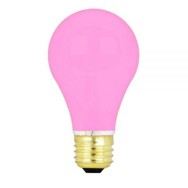 15w 240v E27 GLS Luxram PINK light bulb, Edison Screw Fitment