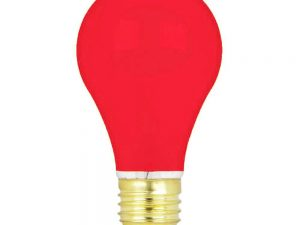 15w 240v E27 GLS Luxram RED light bulb