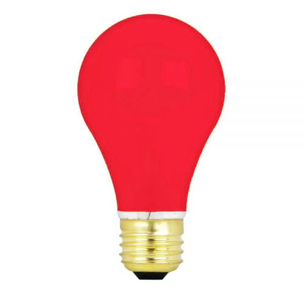15w 240v E27 GLS Luxram RED light bulb, Edison Screw Fitment