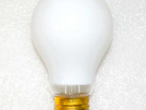 15w 240v E27 GLS Luxram WHITE light bulb