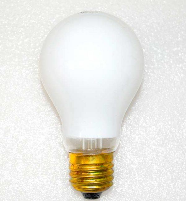15w 240v E27 GLS Luxram WHITE light bulb, Edison Screw Fitment