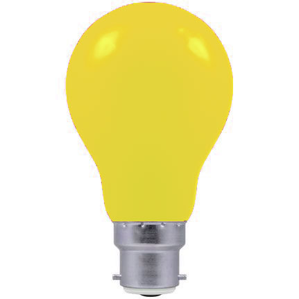 Crompton 60w 240v B22 YELLOW light bulb
