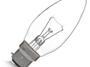 Candle Light Bulb Classic Clear 240v 60w
