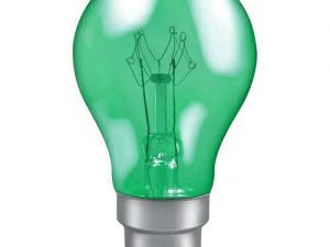 25w 240v B22 GLS Harlequin Translucent GREEN light bulb