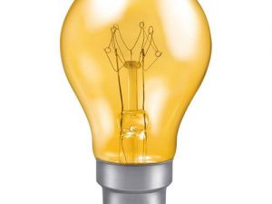 25w 240v B22 GLS Harlequin Translucent YELLOW light bulb