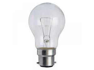 GLS 25w 110v B22 Clear light bulb