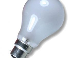 GLS 60w 110v B22 Pearl light bulb