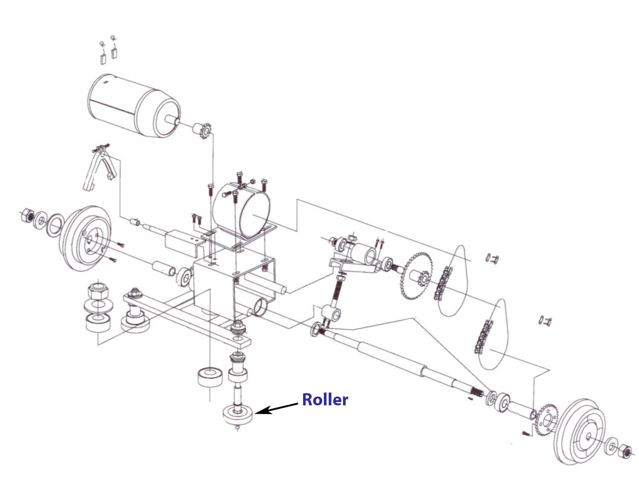 Ital Resina train part roller